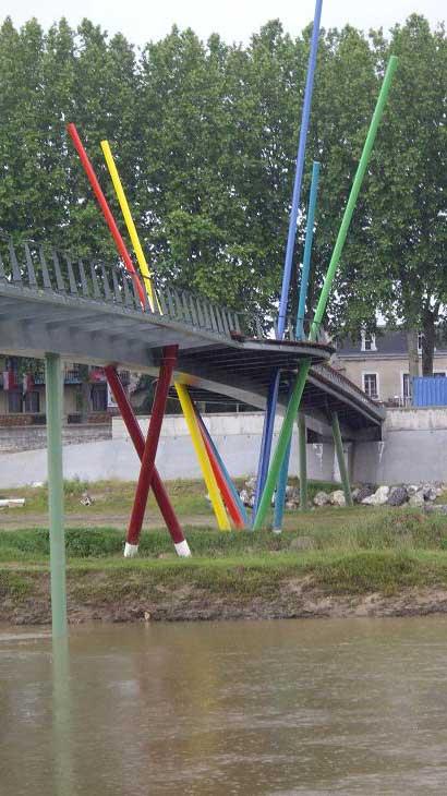 Passerelle à Dax (France)
