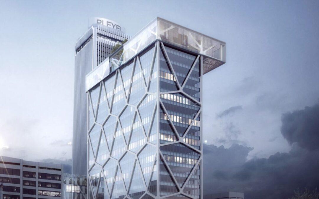 Office tower at Pleyel (Paris, France)