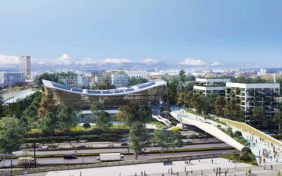 """Η νέα πεζογέφυρα """"fly-over"""" στο Ολυμπιακό Κολυμβητήριο"""